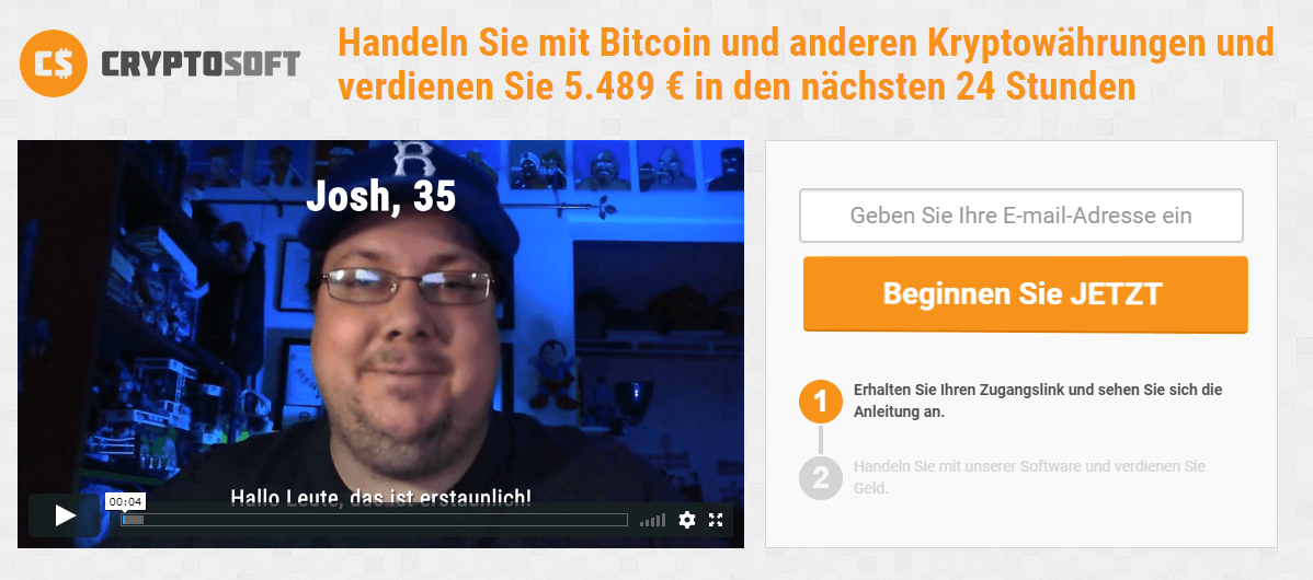 Cryptosoft-Startseite