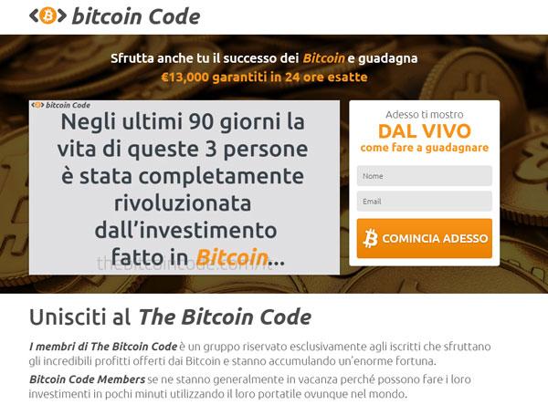 Bitcoin Code Truffa