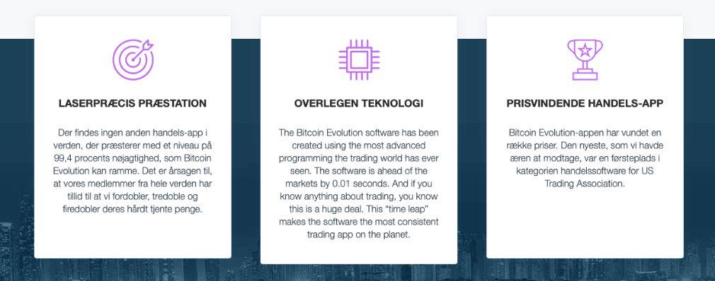 Bitcoin Evolution fordele