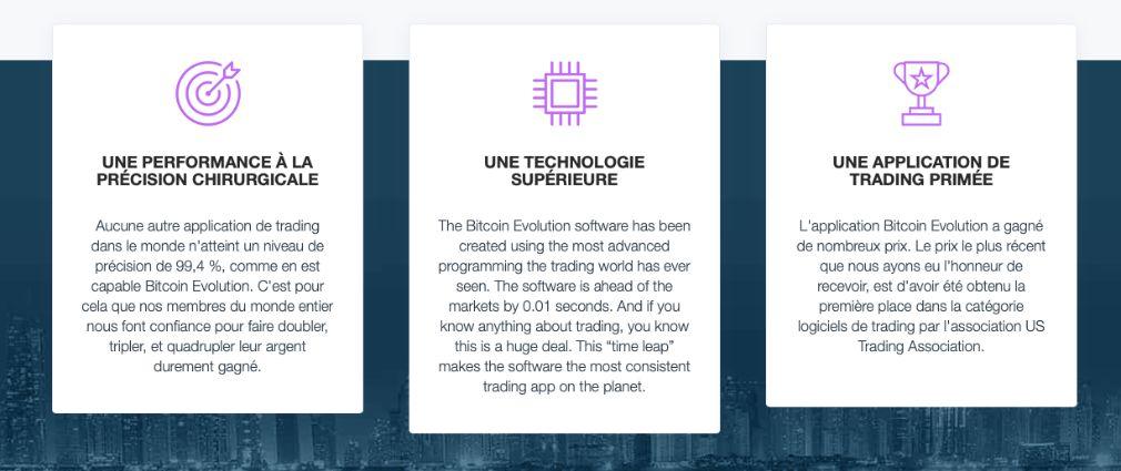Bitcoin Evolution avantages