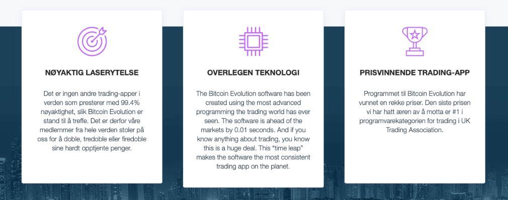 Bitcoin Evolution fordeler