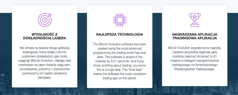 Bitcoin Evolution korzyści