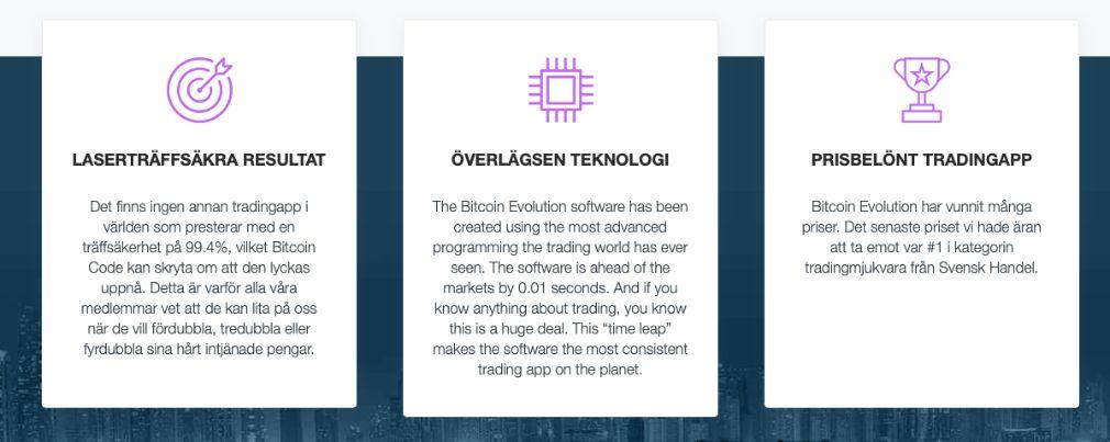 Bitcoin Evolution fördelar