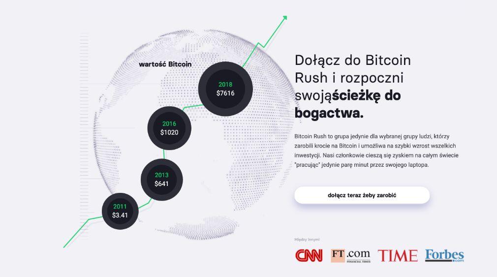 Bitcoin Rush sukces