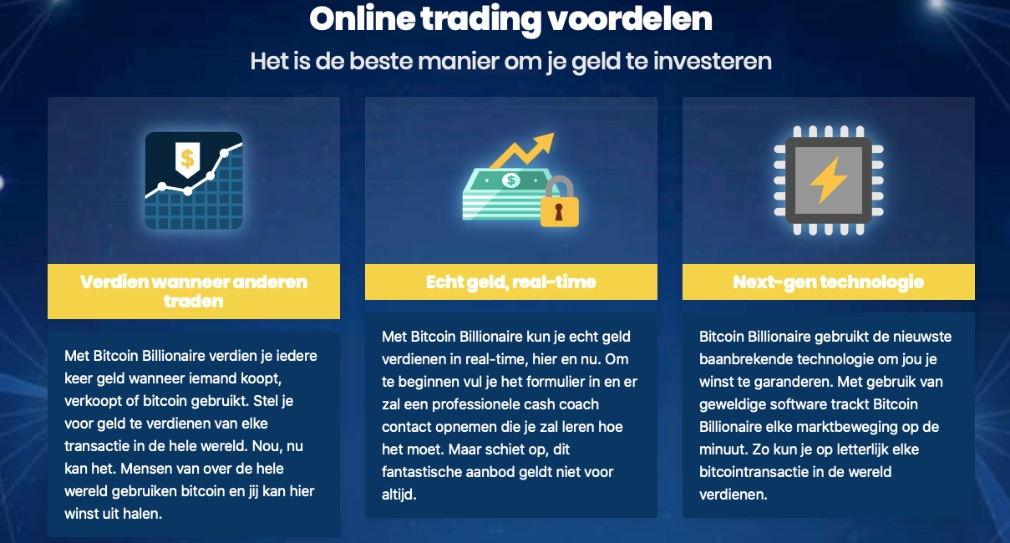 Bitcoin Billionaire Voordelen
