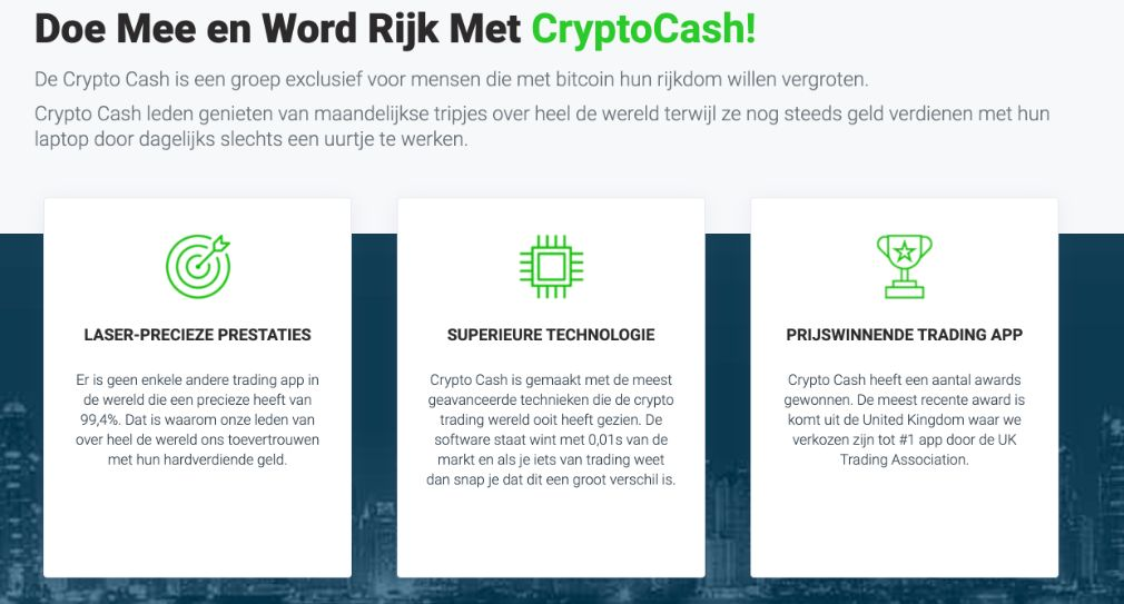 Crypto Cash Voordelen