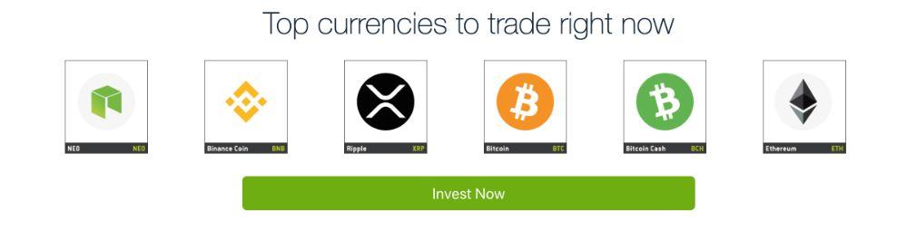 Bitcoin Bank top currencies