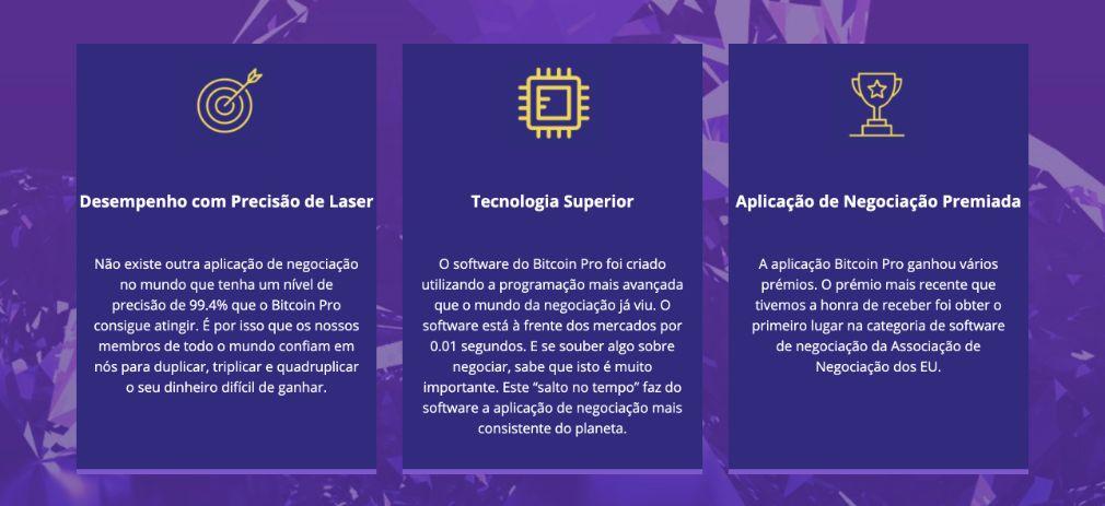 Bitcoin Pro benefício