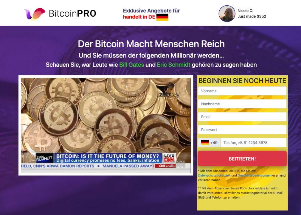 Bitcoin Pro Erfahrungen – Funktioniert Bitcoin Pro wirklich?