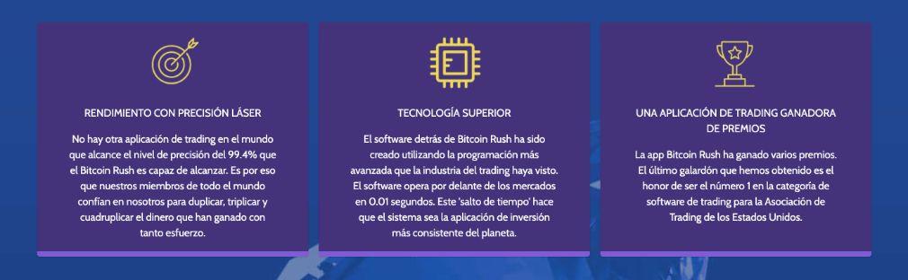 Bitcoin Rush Ventajas