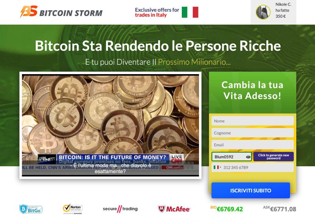 Bitcoin Storm Truffa