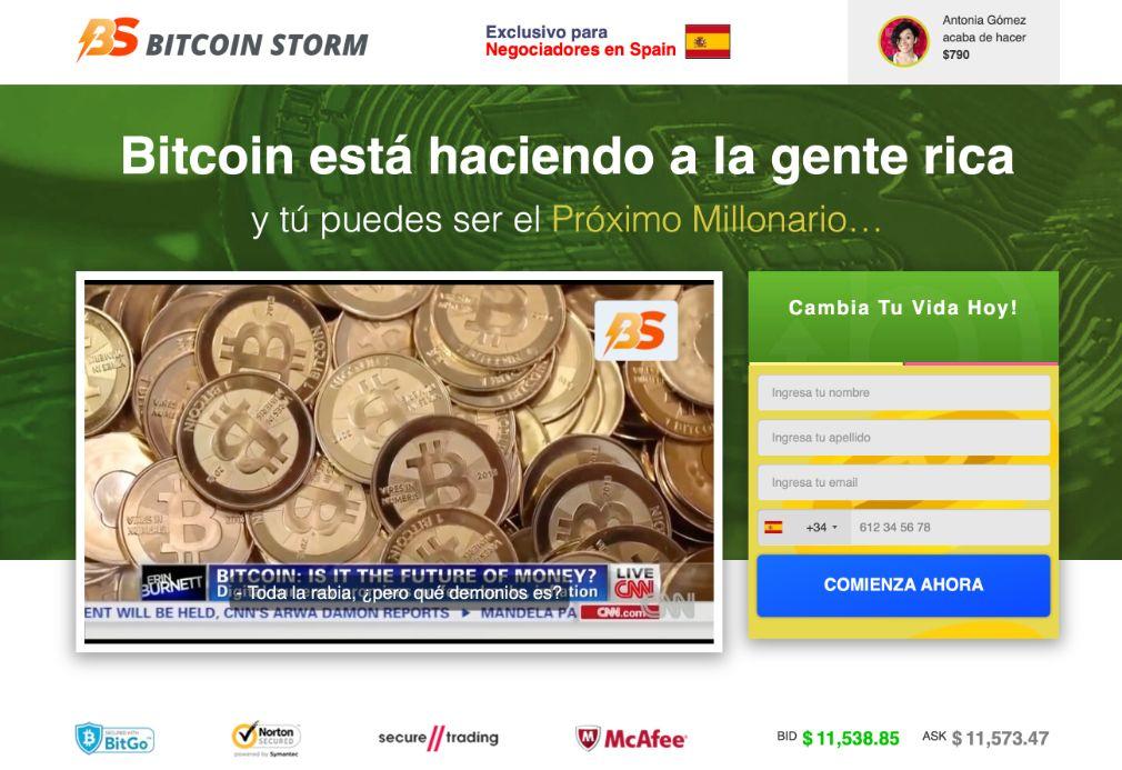 Bitcoin Storm Opiniones