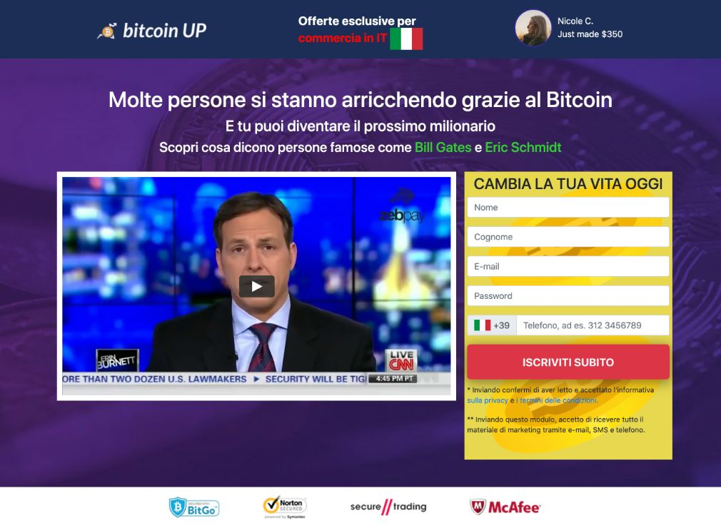 Bitcoin UP Truffa