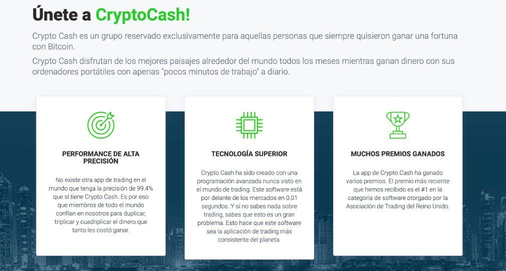 Crypto Cash Ventajas