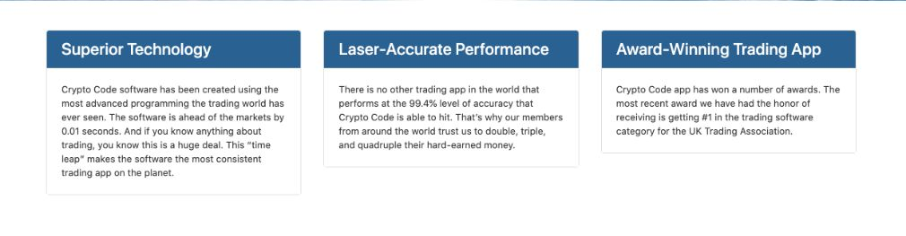 Crypto Code benefits