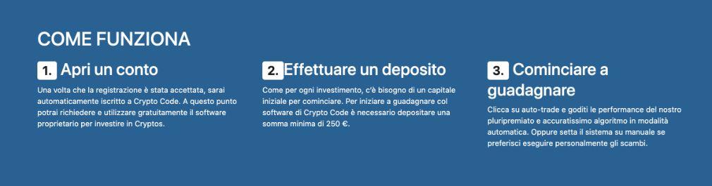 Crypto Code come funziona