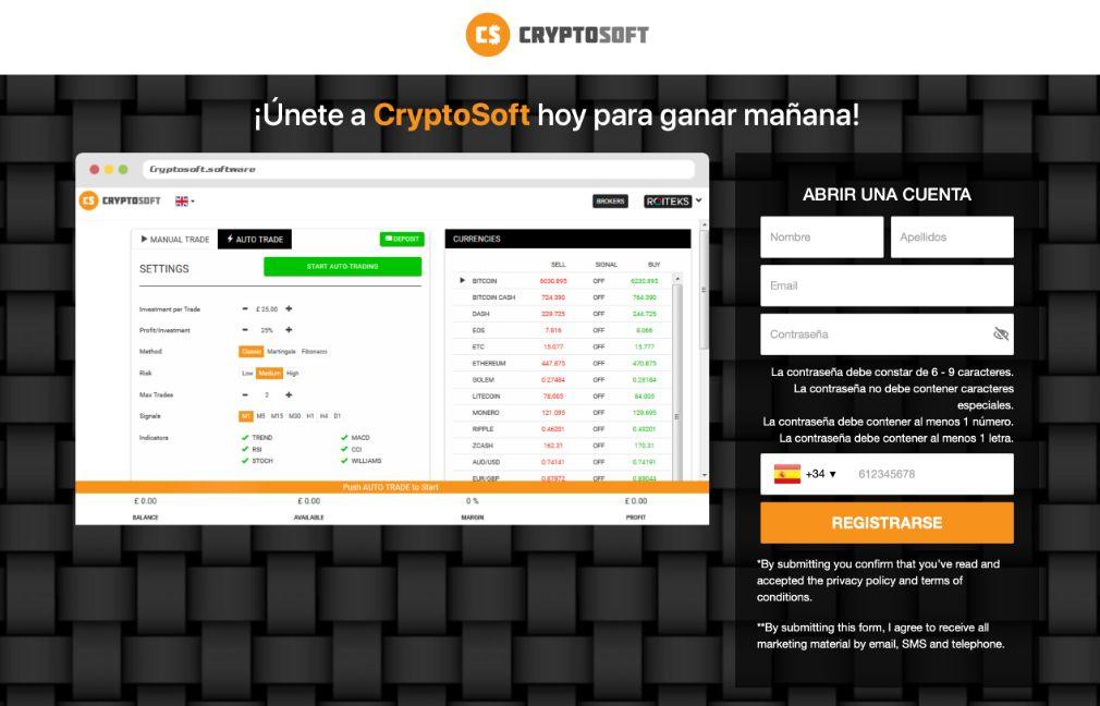 Cryptosoft Opiniones