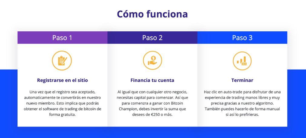 Bitcoin Champion como funciona