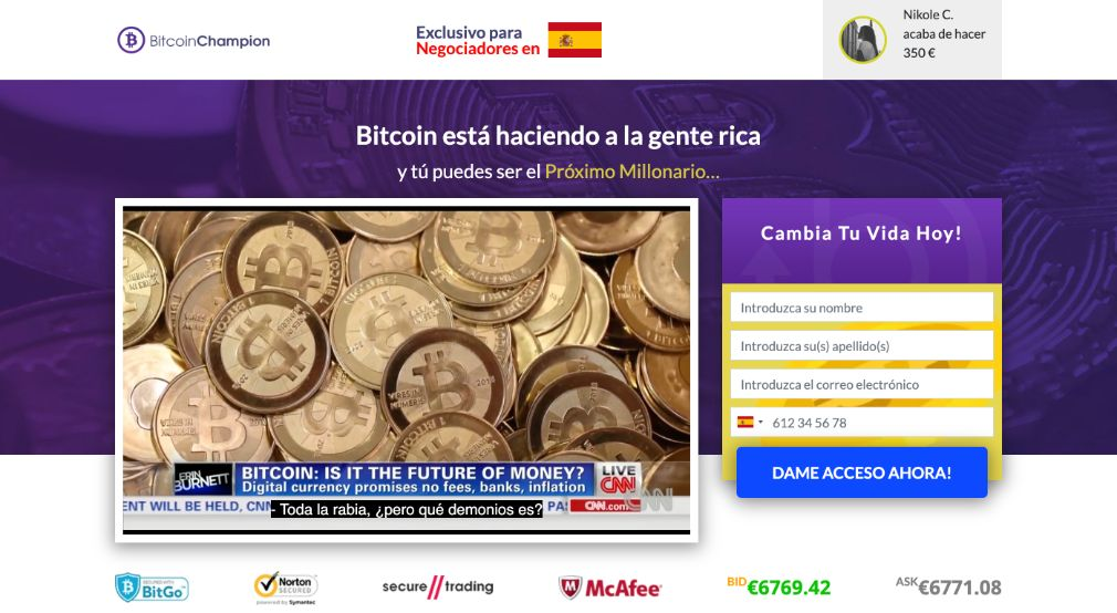 Bitcoin Champion Opiniones