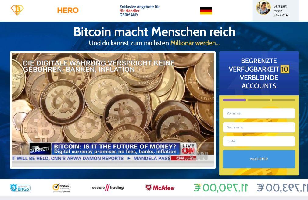 Bitcoin Hero Erfahrungen – Funktioniert Bitcoin Hero wirklich?