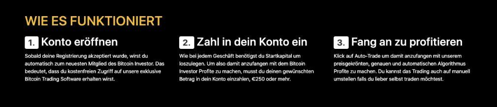 Bitcoin Investor Wie es funktioniert
