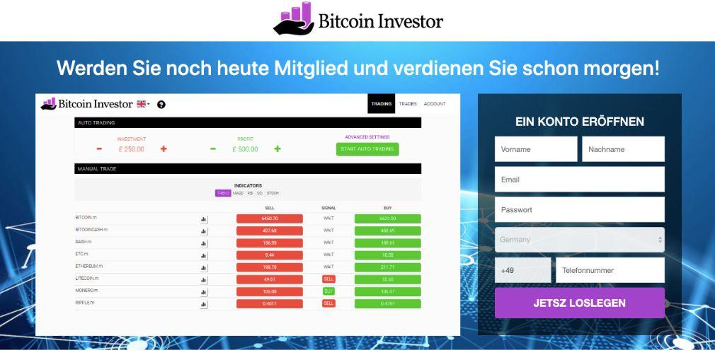 Bitcoin Investor Erfahrungen – Funktioniert Bitcoin Investor wirklich?
