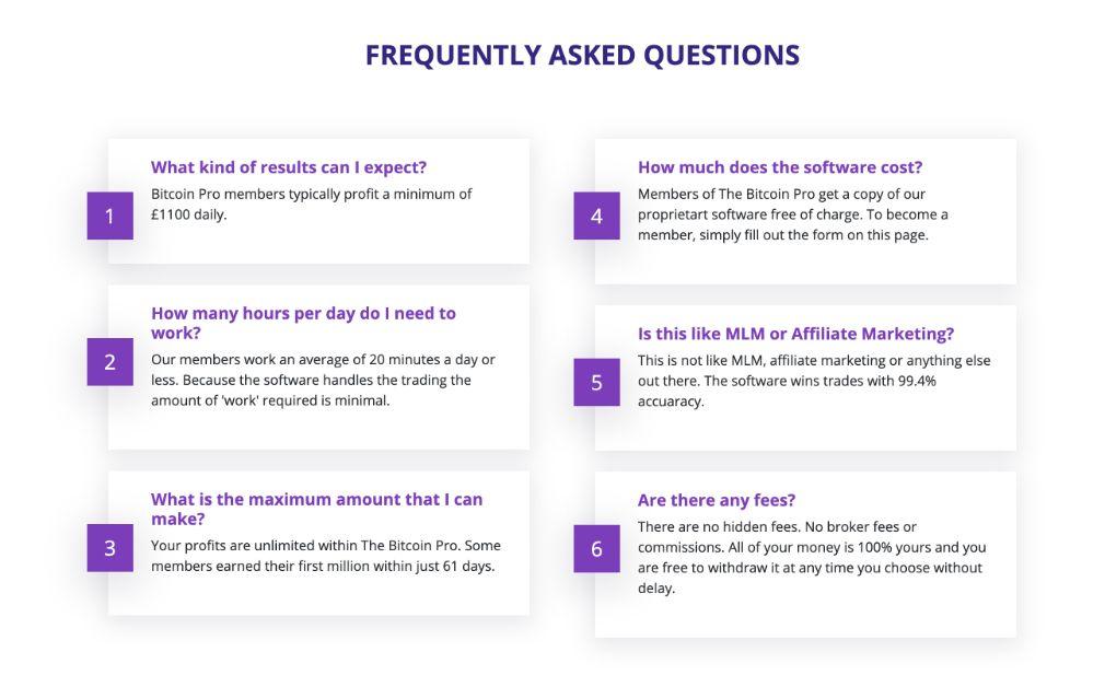 Bitcoin Pro FAQ