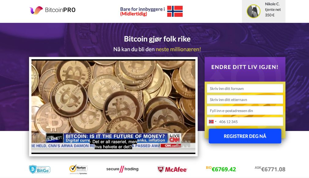 Bitcoin Pro Erfaringer