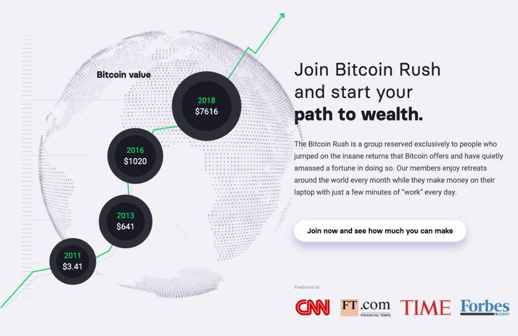 Bitcoin Rush succès
