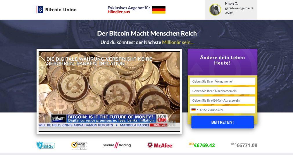 Bitcoin Union Erfahrungen – Funktioniert Bitcoin Union wirklich?