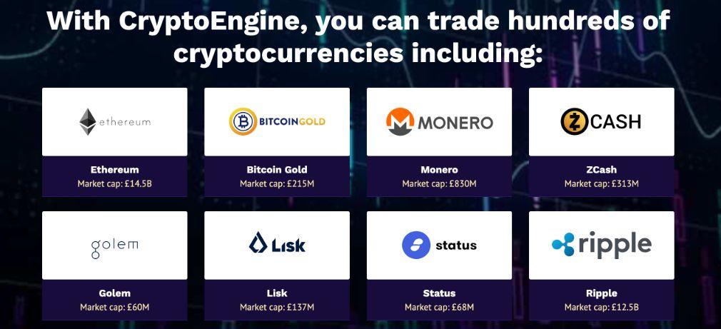 Crypto Engine currencies