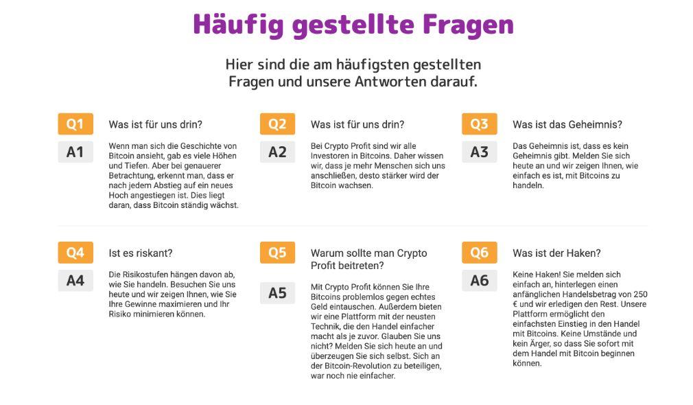 Crypto Profit häufig gestellte Fragen