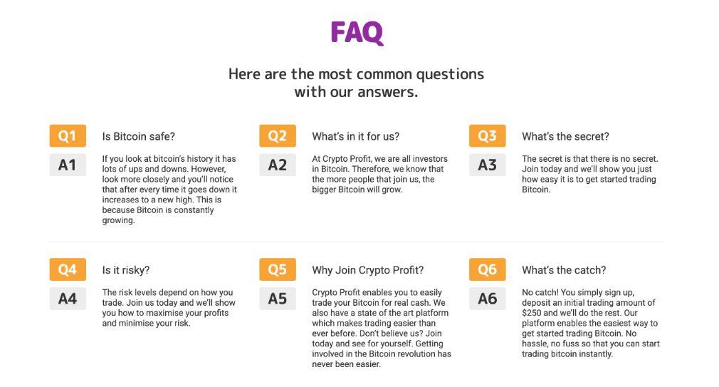 Crypto Profit FAQ