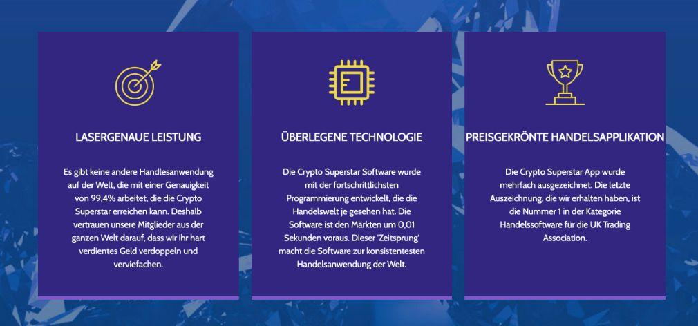 Crypto Superstar Vorteile