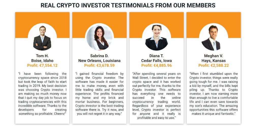Crypto Investor testimonials