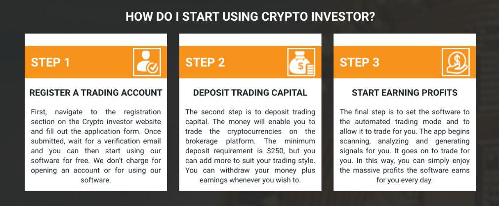 Crypto Investor steps to start