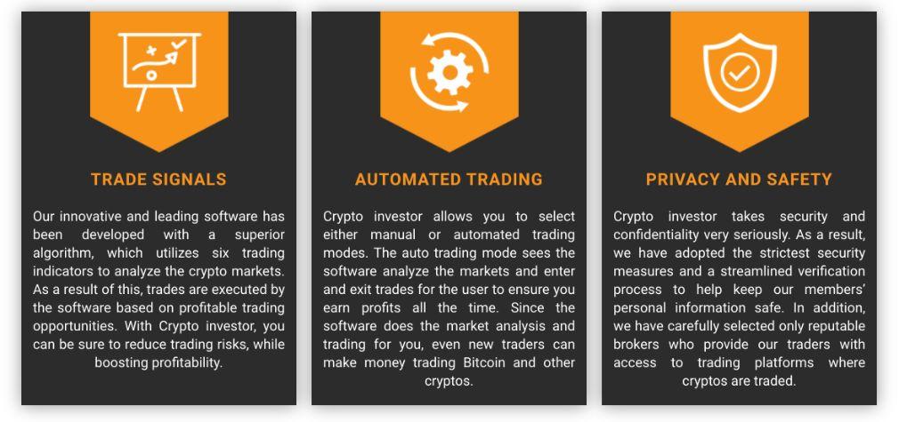 Crypto Investor benefits