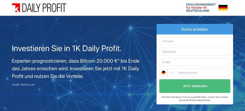 1k Daily Profit Erfahrungen – Funktioniert 1k Daily Profit wirklich?