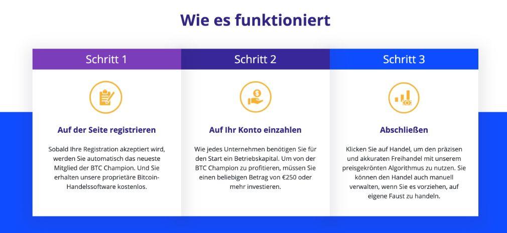 Bitcoin Champion Kontoeröffnung