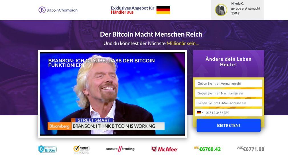 Bitcoin Champion Erfahrungen – Funktioniert Bitcoin Champion wirklich?