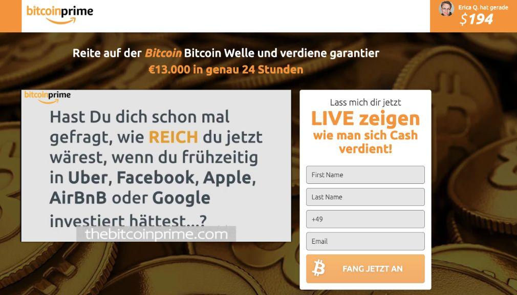 Bitcoin Prime Erfahrungen – Funktioniert Bitcoin Bank wirklich?