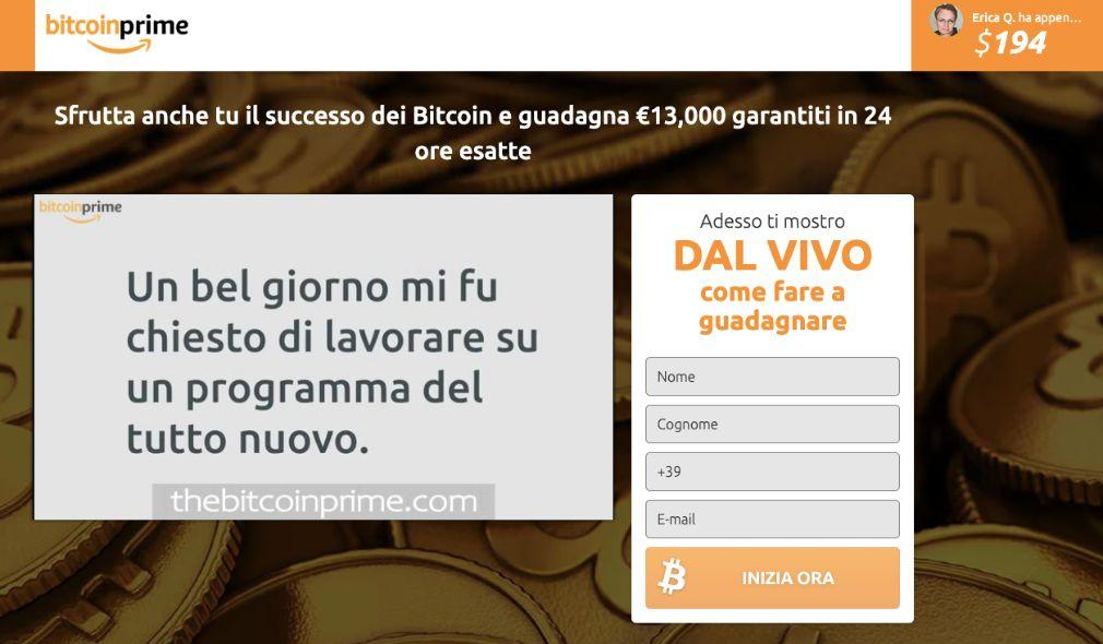 Bitcoin Prime Truffa
