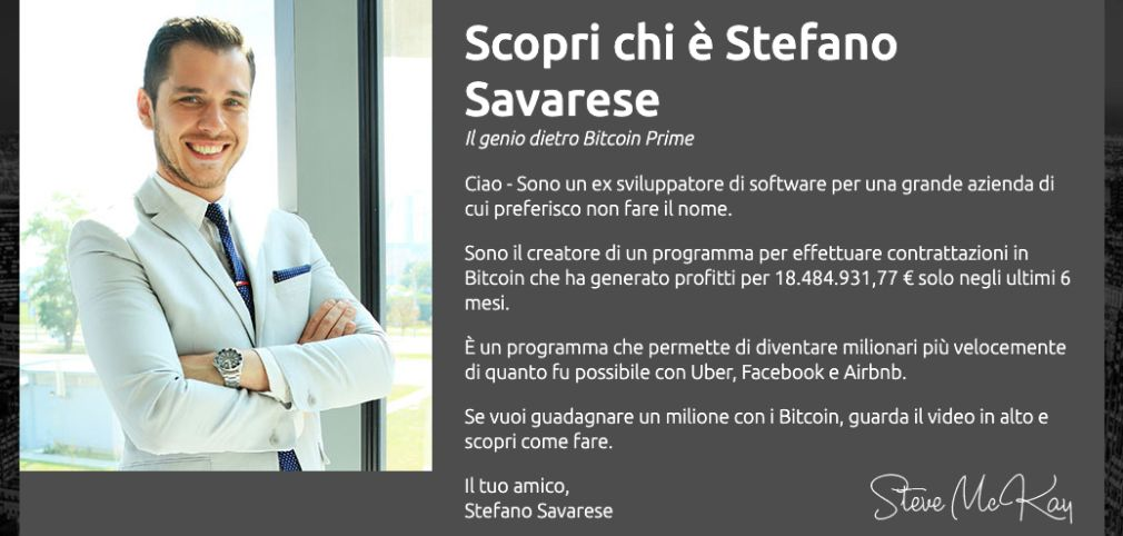 Bitcoin Prime fondatore