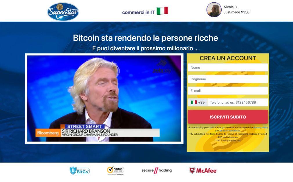 Bitcoin Superstar Truffa