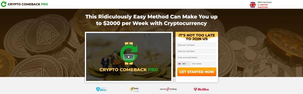 Crypto Comeback Pro Opiniones